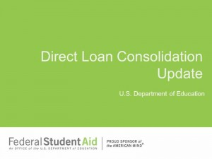 Apr 15 New Direct Loan Consolidation Process